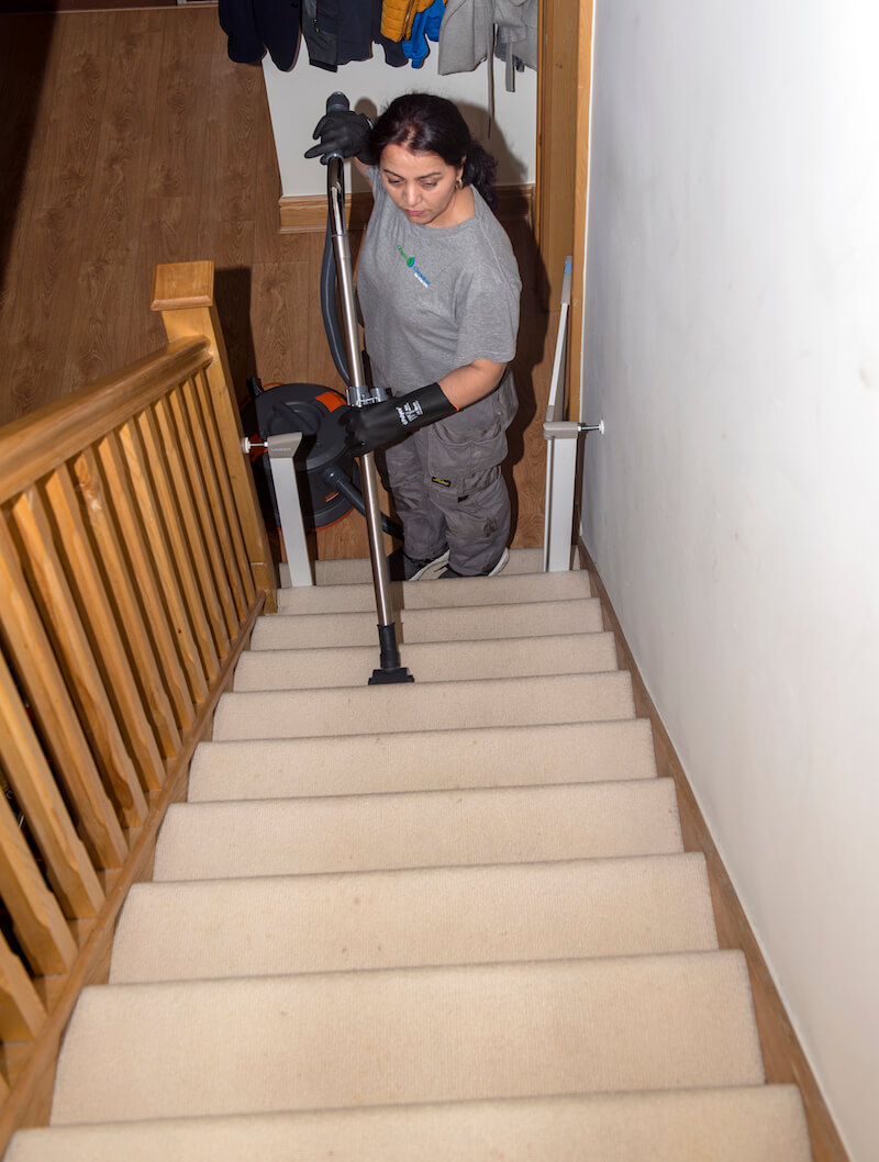 Cleaning Stairs Carpet